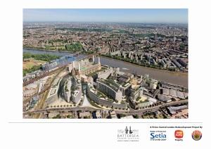 Nine elms new development in Battersea Park